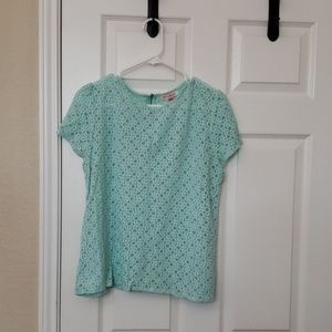English Laundry Mint Lacey Top